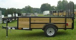 American Mfg Single Axle Highside 2K Utility Trailer