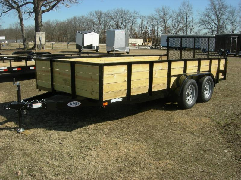 2019 American Trailers UT8216TAHS Equipment Trailer
