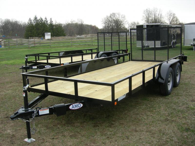 2019 American Manufacturing Operations (AMO) UT76x16 Landscape Equipment Trailer