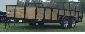 American Mfg Tandem Axle Highside 7K Landscape Trailer