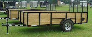American Mfg Single Axle Highside 3.5K Utility Trailer
