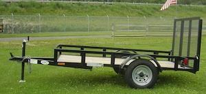American Mfg Single Axle Lowside 2K Utility Trailer