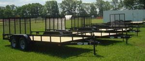 American Mfg Tandem Axle 7K Lowside Landscape Trailers