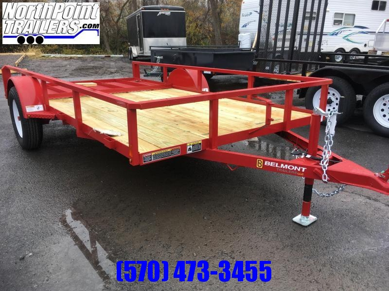 2018 Belmont Machine UT612TT **RED** Utility Trailer