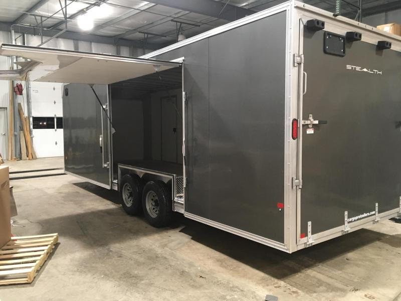 2018 CargoPro Trailers C8x24SCH Enclosed Car Trailer - ELITE ESCAPE DOOR - CHARCOAL
