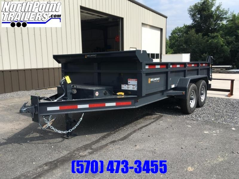 2020 Belmont Machine DT8114-14K Dump Trailer - Charcoal