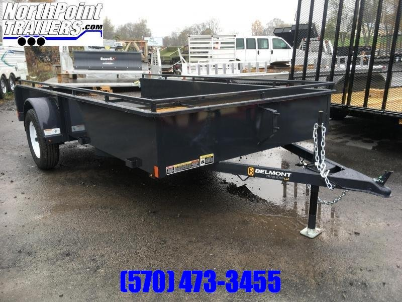 2019 Belmont Machine UT612SS Solid Side **BLACK** Utility Trailer