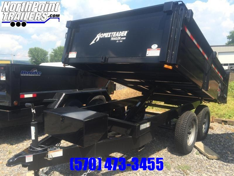2019 Homesteader 610LB Dump Trailer W/ Curbside Fold Down
