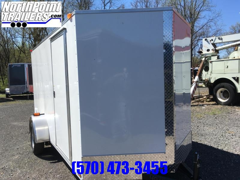 2018 Samson W6x12SA Enclosed Ramp Door - White