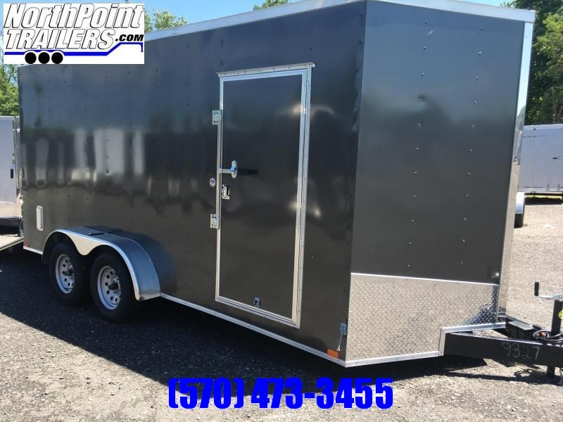 "2019 Spartan SP714TA Cargo Trailer - 80"" Door Opening - E-Track - CHARCOAL"