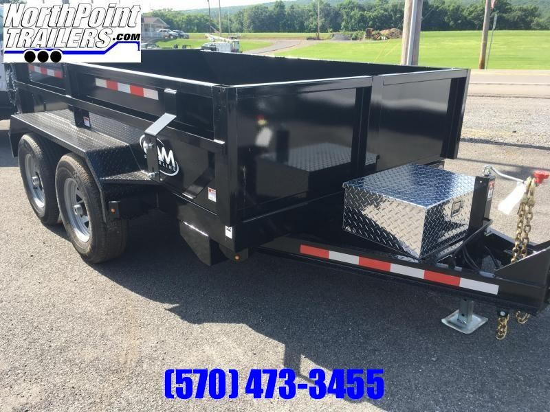 2020 CAM 6X10 DUMP TRAILER - BLACK