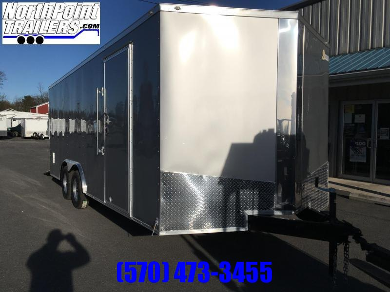 "2018 Samson SP8.5x20 Enclosed Trailer - 5.2K Axles- Silver Frost - 84"" Door Opening"
