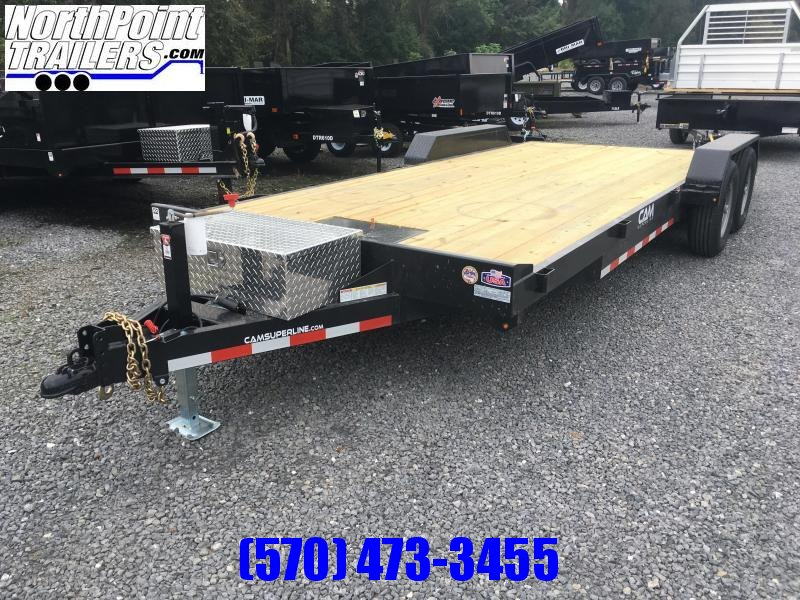 2019 Cam Superline 20' Car Hauler - 5CAM20CH - w/ locking toolbox and winch plate