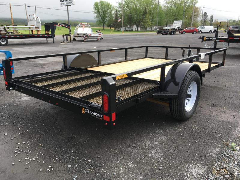 2019 Belmont Machine UT612TT **CHARCOAL** Utility Trailer