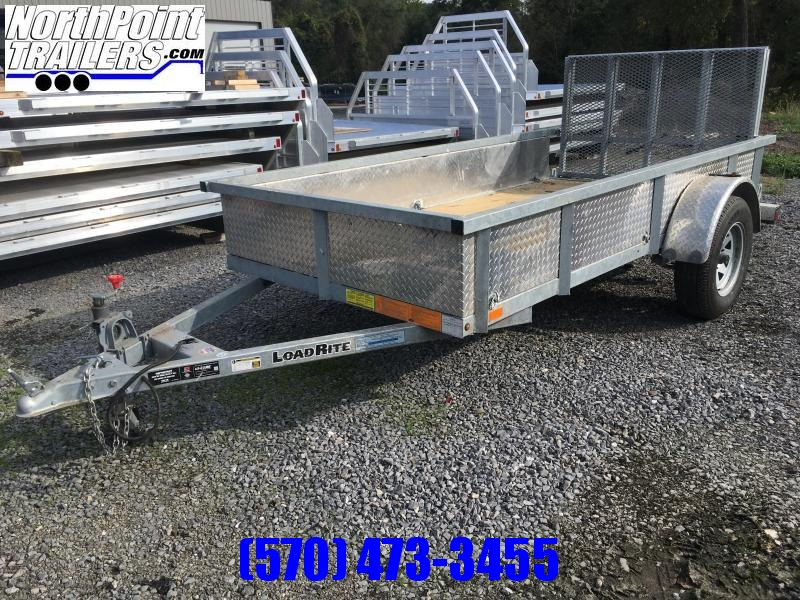 2018 Load Rite UT510 - GALVANIZED W/ CUSTOM ALUMINUM SIDES AND BIFOLD TAILGATE
