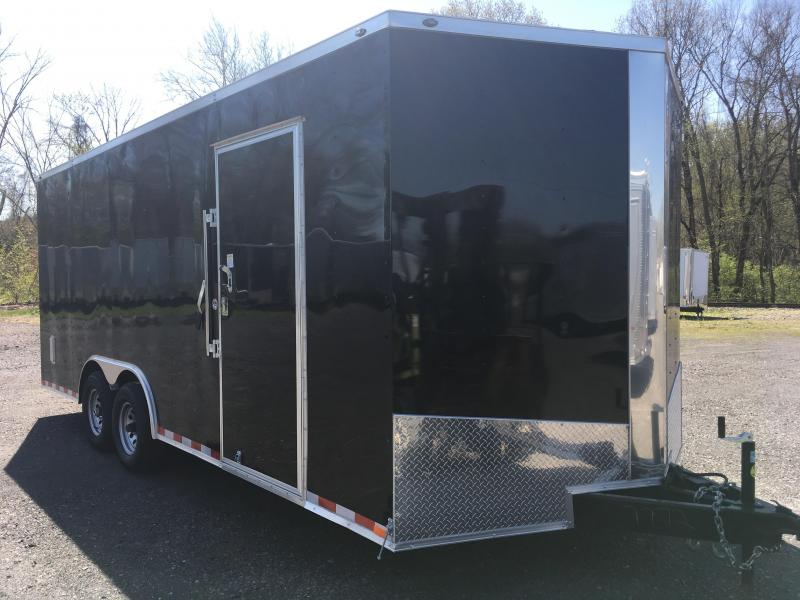 "2019 Samson SP8.5x20 Enclosed Trailer - 5.2K Axles- Charcoal - 84"" Door Opening"