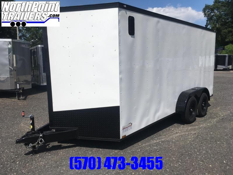 2020 Spartan SP716TA Cargo Trailer - 7'Interior - White w/ Blackout Pkg