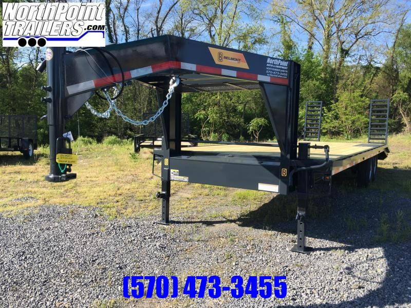 2017 Belmont Machine GN24-14K Gooseneck w/ Adj. Beavertail & Slide-out Ramps