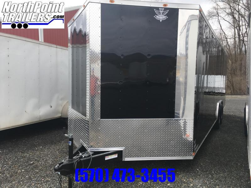 2019 Empire Cargo 8.5x24TA - Enclosed Car Trailer - Black