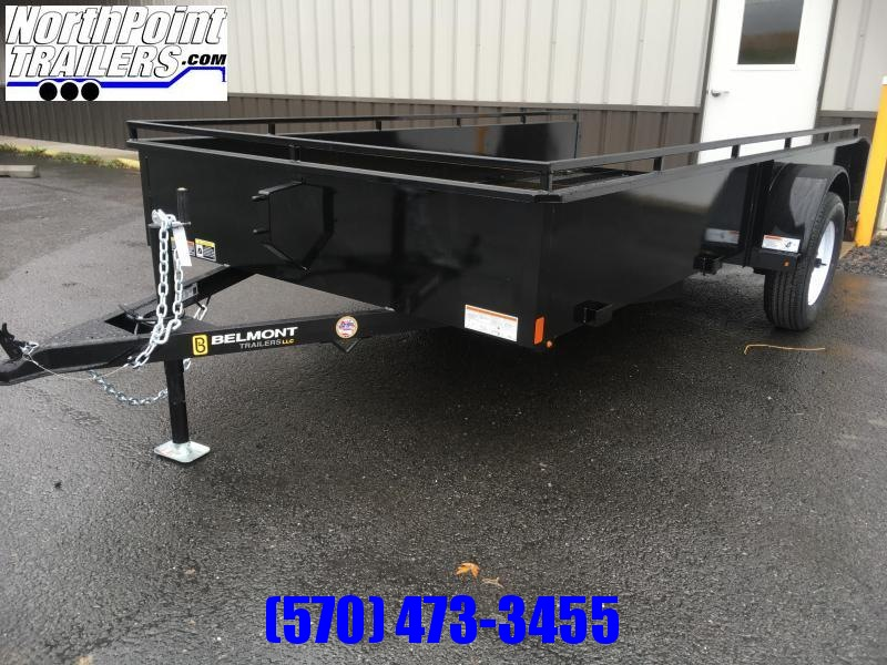 2018 Belmont Machine UT612SS Solid Side **BLACK** Utility Trailer