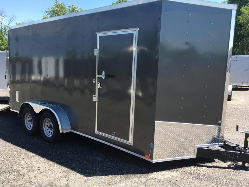 "2018 Samson SP716TA Cargo Trailer - 80"" Door Opening - E-Track - Charcoal Gray"