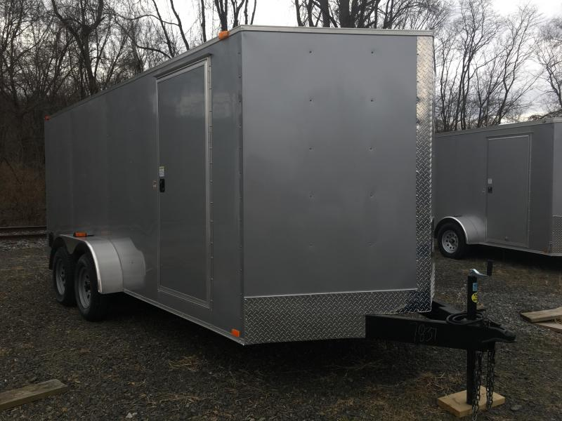 2019 Samson W716TA Cargo Trailer - Silver Frost