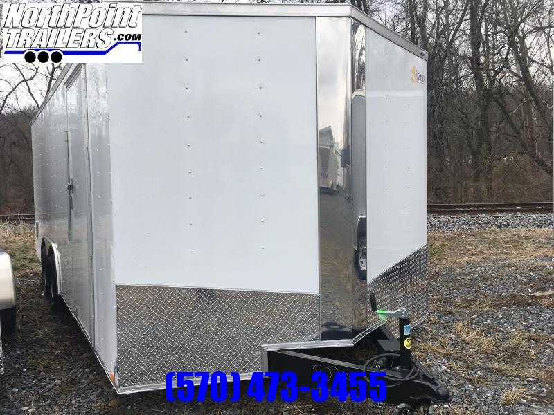 2018 Samson SP8.5x20 Enclosed Trailer - White