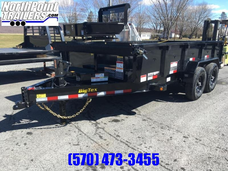 "2019 Big Tex Trailers 83"" x 14' - 14K - Dump Trailer w/ Ramps - Tarp - Spare Mount"