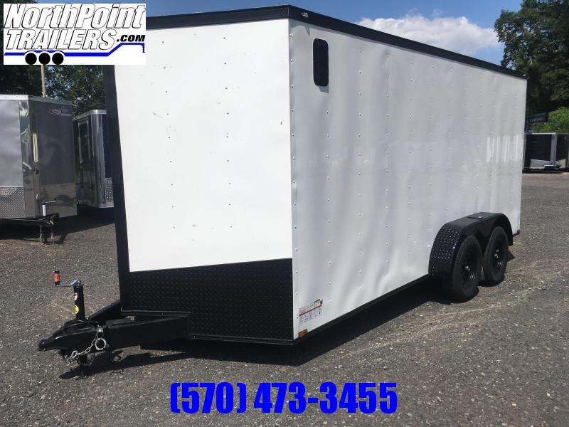 "2020 Spartan SP716TA Cargo Trailer - 6'6"" Interior - White w/ Blackout Pkg"