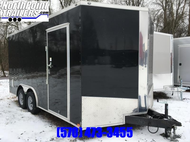 "2020 Spartan SP8.5x16 Enclosed Trailer - Black - 84"" Interior"