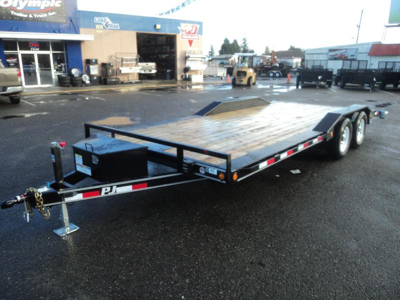 2018 PJ Trailers 8.5X20 10K Channel Buggy Hauler w/Winch plate and Toolbox