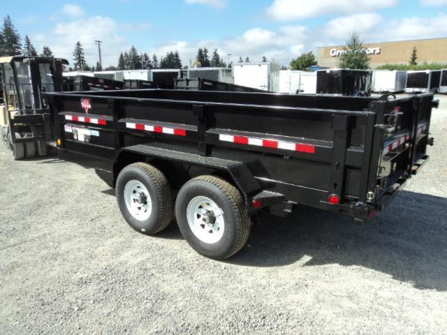 2020 PJ 7x16 14K Dump with 10K Jack Trailer