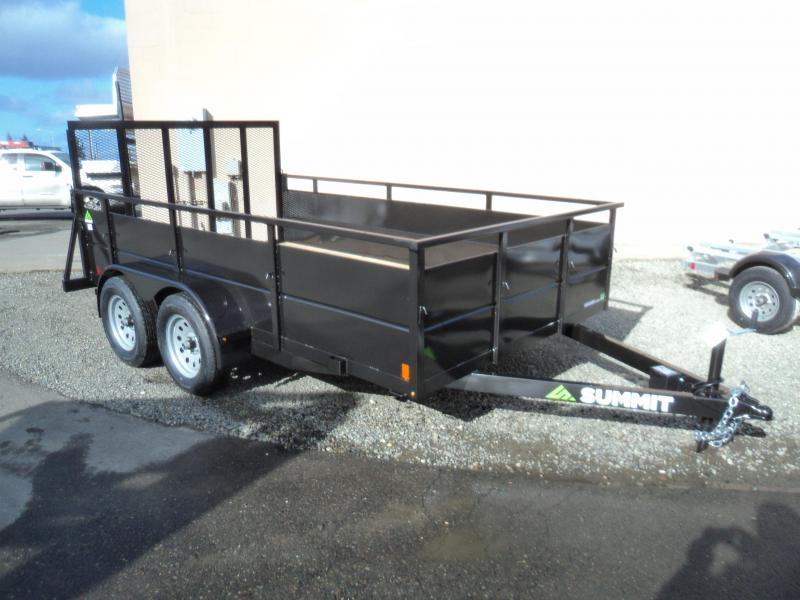 2018 Summit Cascade 7x14 Dual Axle Utility Trailer