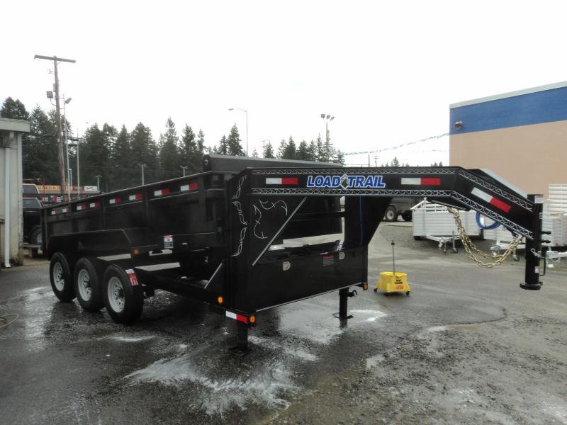 2018 Load Trail 7X16 21K Gooseneck Dump With Scissor Lift/Tarp Kit/Ramp[s