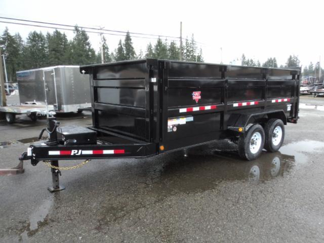 2020 PJ Trailers 7X16 14K High Side Dump Trailer w/10k Jack