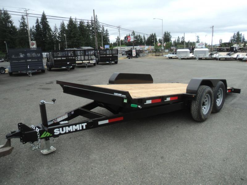 2019 Summit Cascade 7x16 14K Tiltbed Equipment Trailer