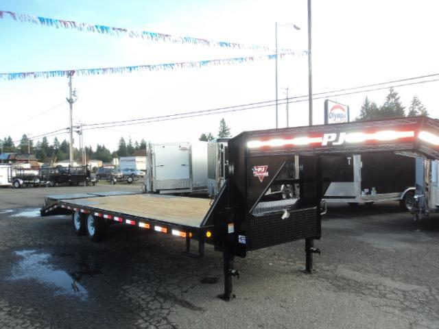 2018 PJ 8.5X25 Gooseneck Deckover Equipment Trailer