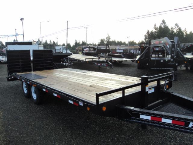 2017 PJ Trailer 8.5X20 w/Spare Tire 8 in. I-Beam Deckover Equipment Trailer