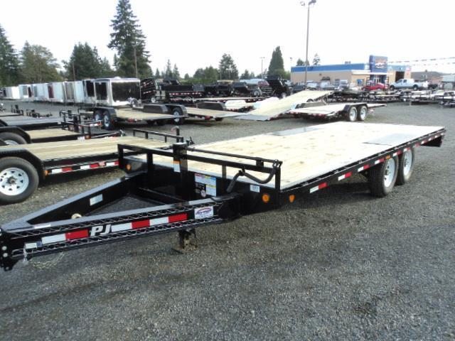 "2018 PJ Trailers 8.5x22 8"" I-Beam Deckover (F8) Equipment Trailer"