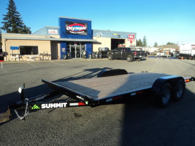 2019 Summit Cascade 7x18 10K Flatbed Trailer