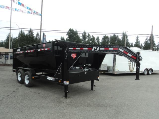 2018 PJ Rollster Roll Off 7x14 14K Dump w/2 Bins and Skid Deck
