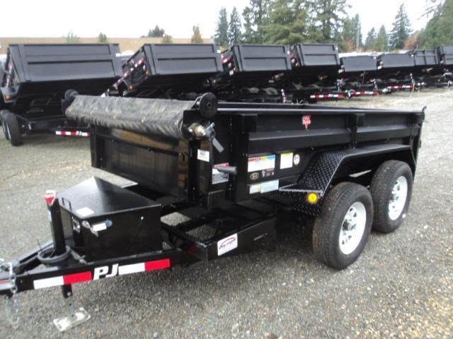 2020 PJ Trailers 5x10 10K With Tarp Kit Dump Trailer