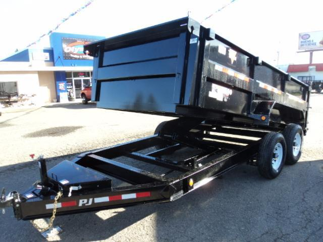 "2018 PJ Trailers 14' x 83"" Low Pro High Side Dump Trailer"