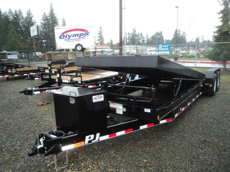 2019 PJ 7X22 14K Powered Full Tilt Equipment Trailer