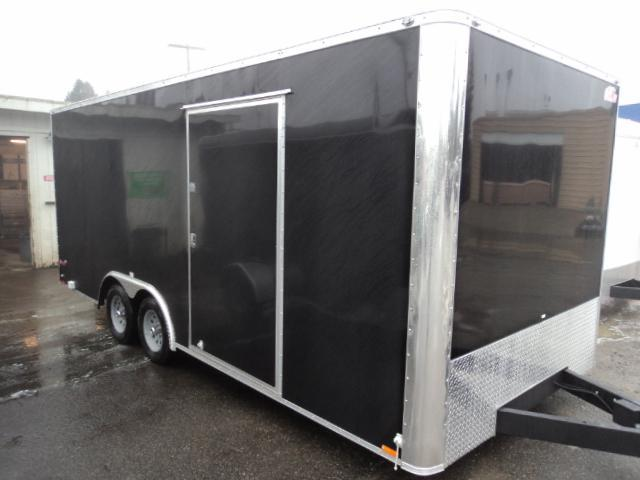 2019 Cargo Mate E-SERIES 8.5X20 7k w/Rear Ramp Door and D-Rings