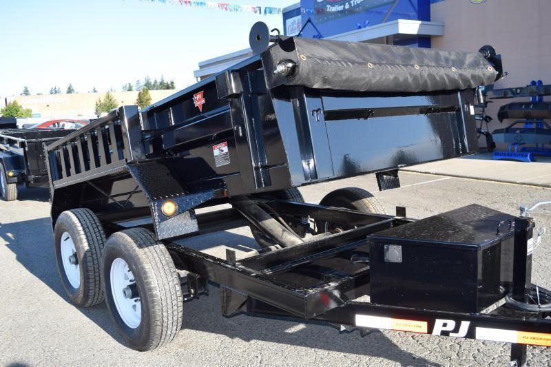 2018 PJ Trailers 5x10 10K w/Tarp Kit and Ramps Dump Trailer