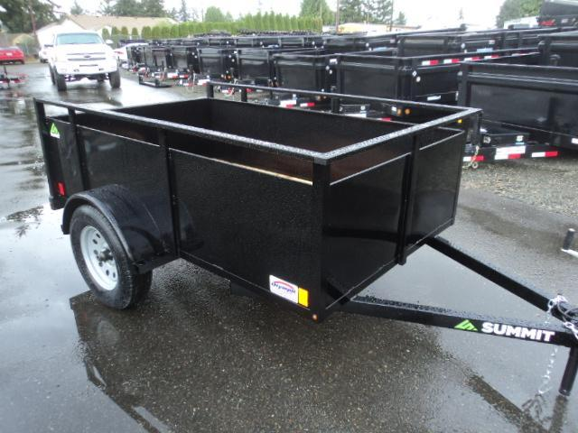 2018 Summit Alpine 4X8 Single Axle w/Split Ramps Utility Trailer