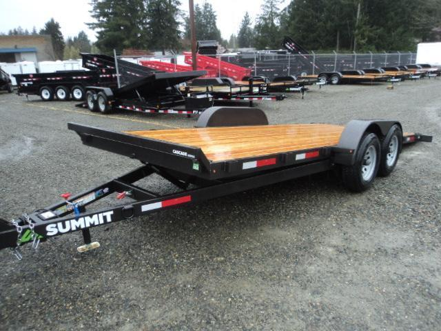 2017 Summit Cascade 7x18 7K Tilt w/Removable Fenders Car / Racing Trailer