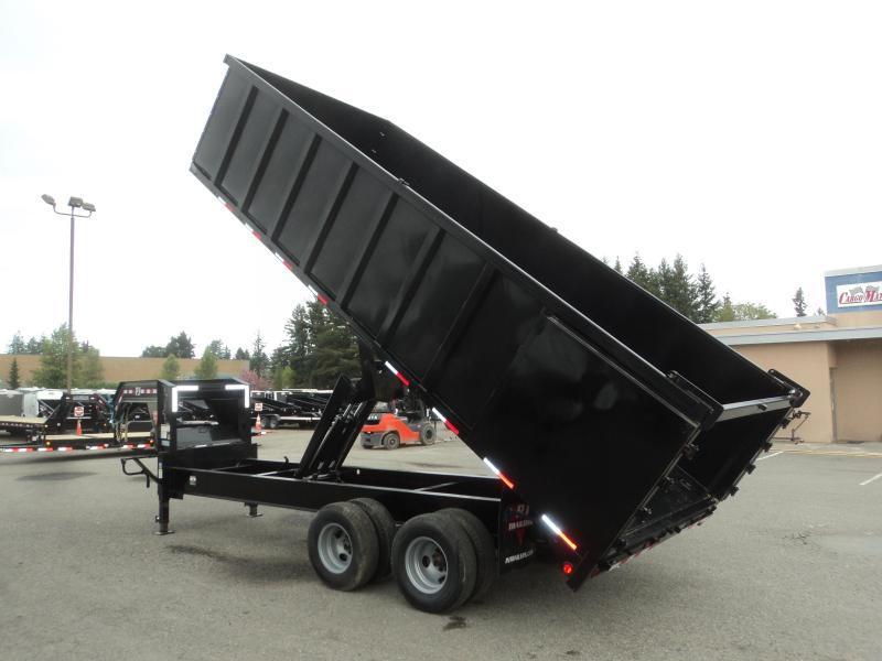 2020 PJ 8x20 Tandem Dual Dump w/4ft Removable Sides