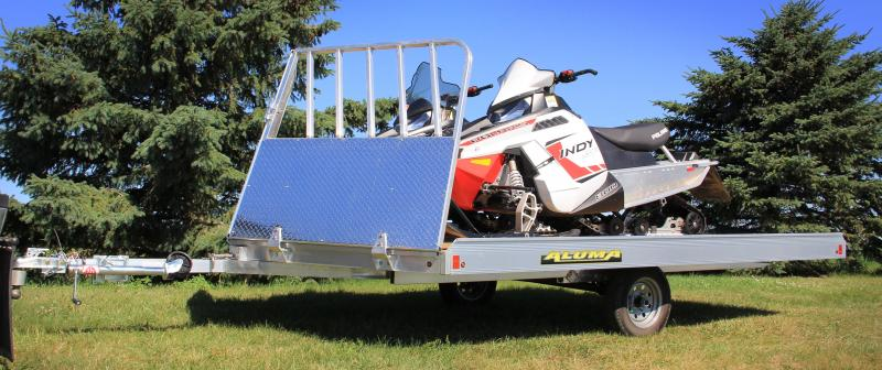 2018 Aluma 8612D TILT Snowmobile Trailer